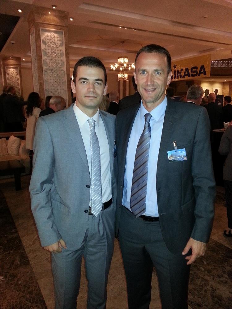 Predsjednik OSCG Cvetko Pajković i generalni sekretar Ivan Bošković prisustvovali svečanoj ceremoniji potpisivanja ugovora CEV i Mikase