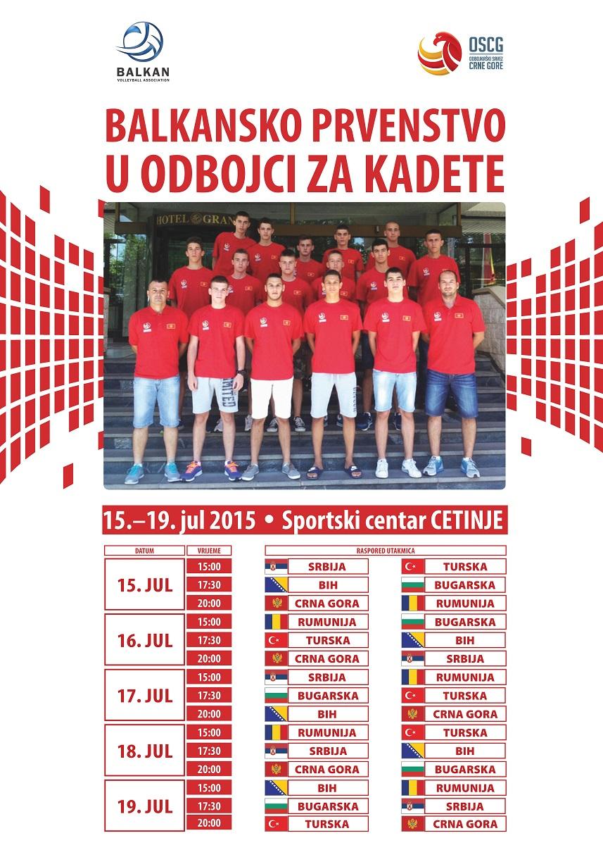 balkansko prvenstvo kadeti balkanijada cetinje odbojka oscg poster