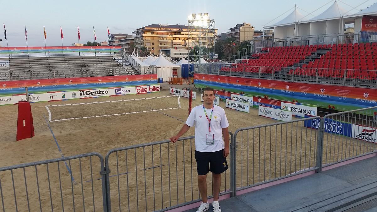 ivan boskovic sef misije mediteranske igre na pijesku peskara odbojka
