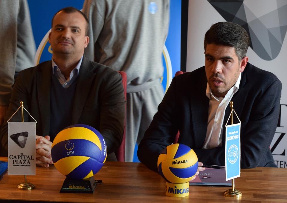 mirko jankovic predrag kozic ok buducnost volley capital plaza press