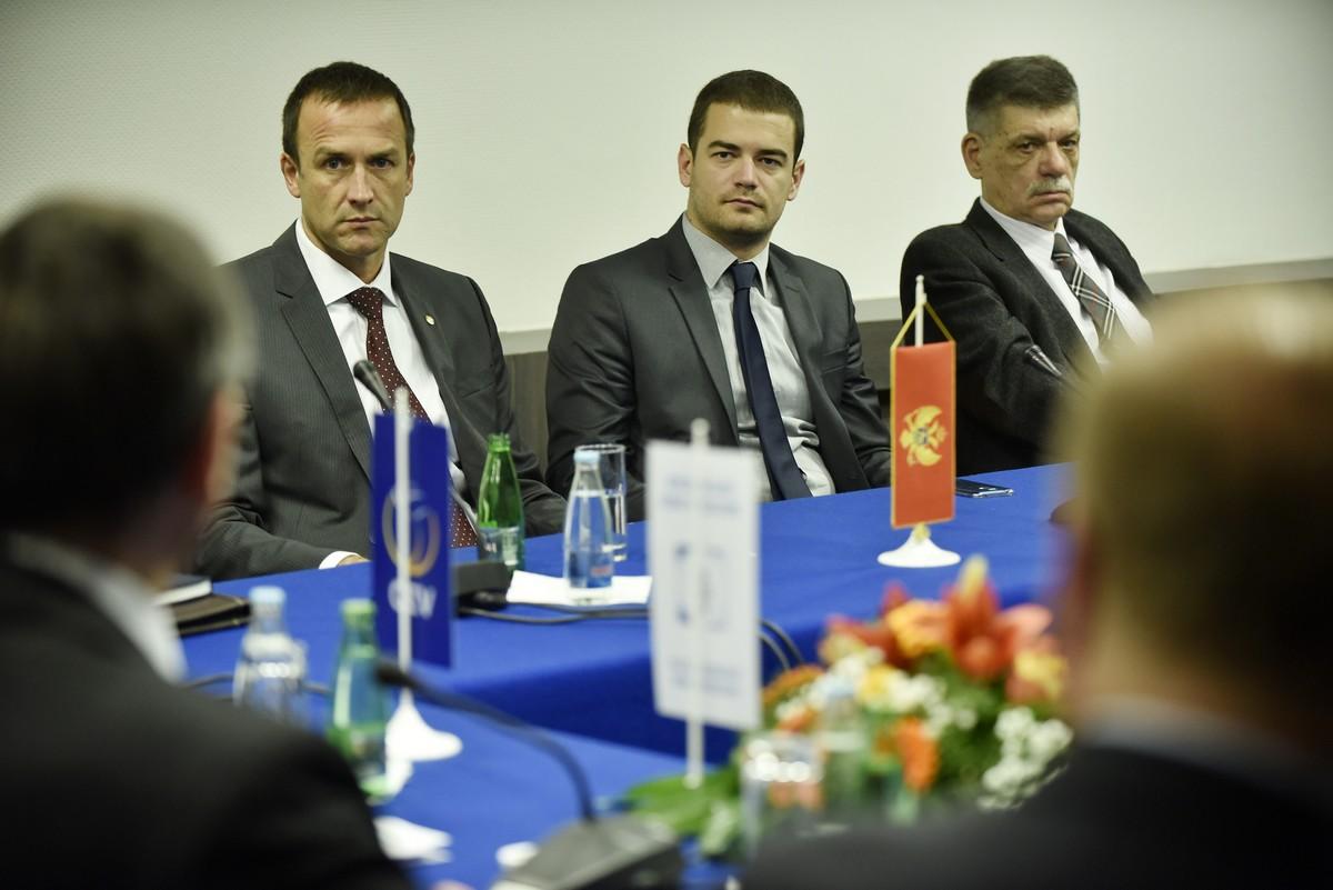 sastanak delegacija bva sarajevo odbojka volleyball meeting cvetko pajkovic ivan boskovic president secretary general predsjednik generalni sekretar oscg montenegro crna gora