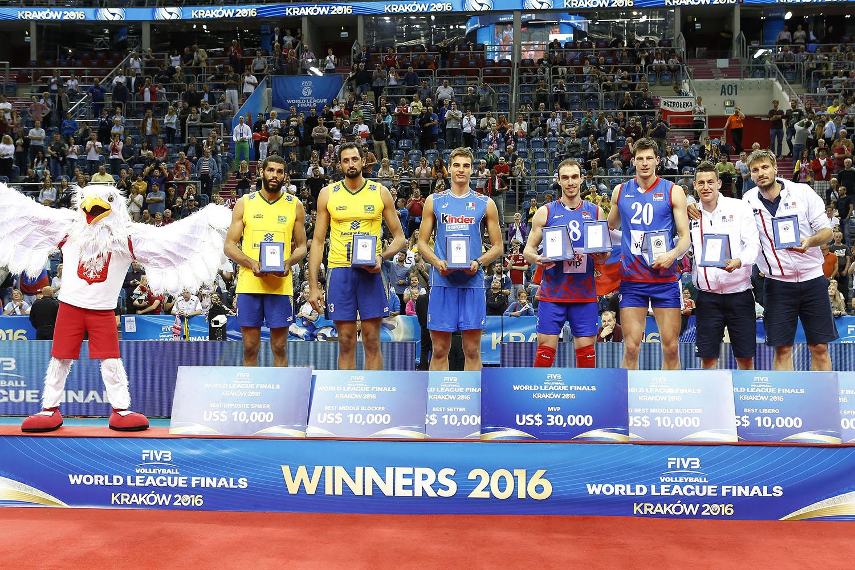 pojedinacne nagrade svjetska liga 2016 odbojka