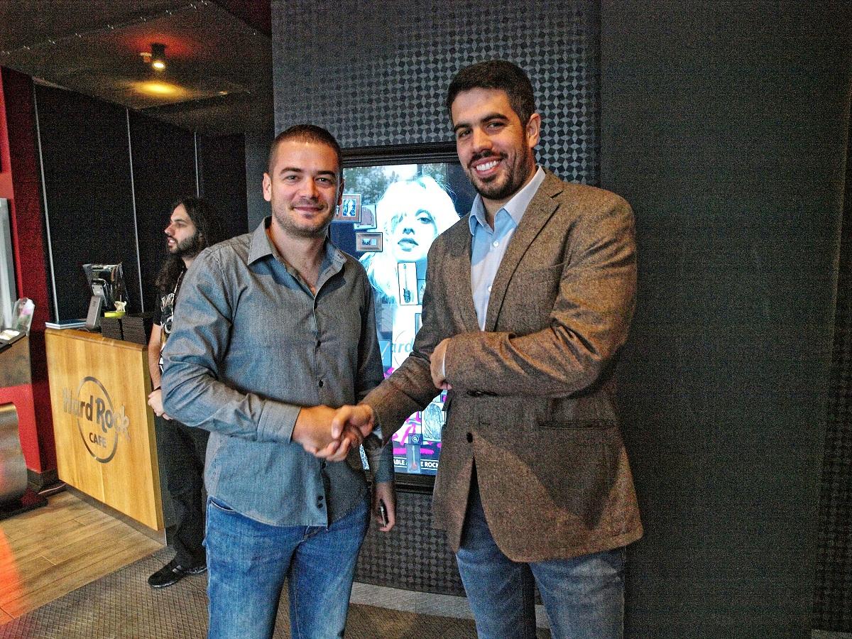Generalni sekretar OSCG Ivan Bošković i predsjednik OK Budućnost Capital Plaza Mirko Janković