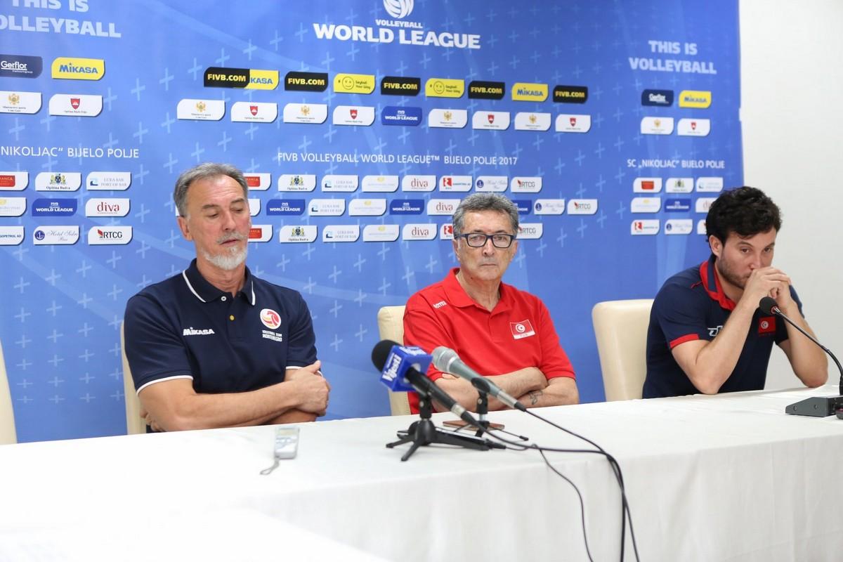 press konferencija Bijelo Polje Crna Gora odbojka Svjetska liga 2017 seniori Estonij Tunis Kineski Taipei 2