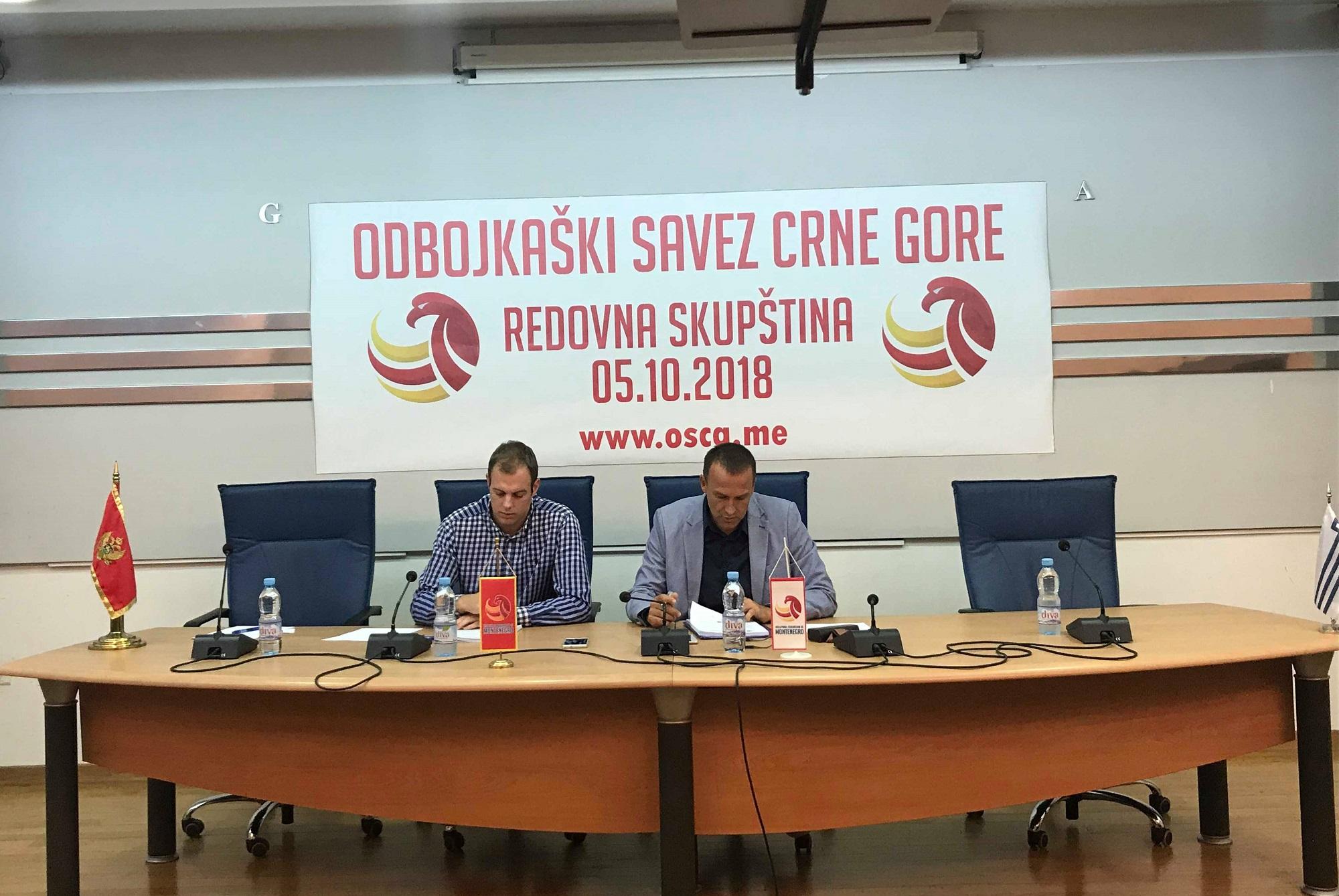 Skupština OSCG 2018. Cvetko Pajković, Miloš Jovanović