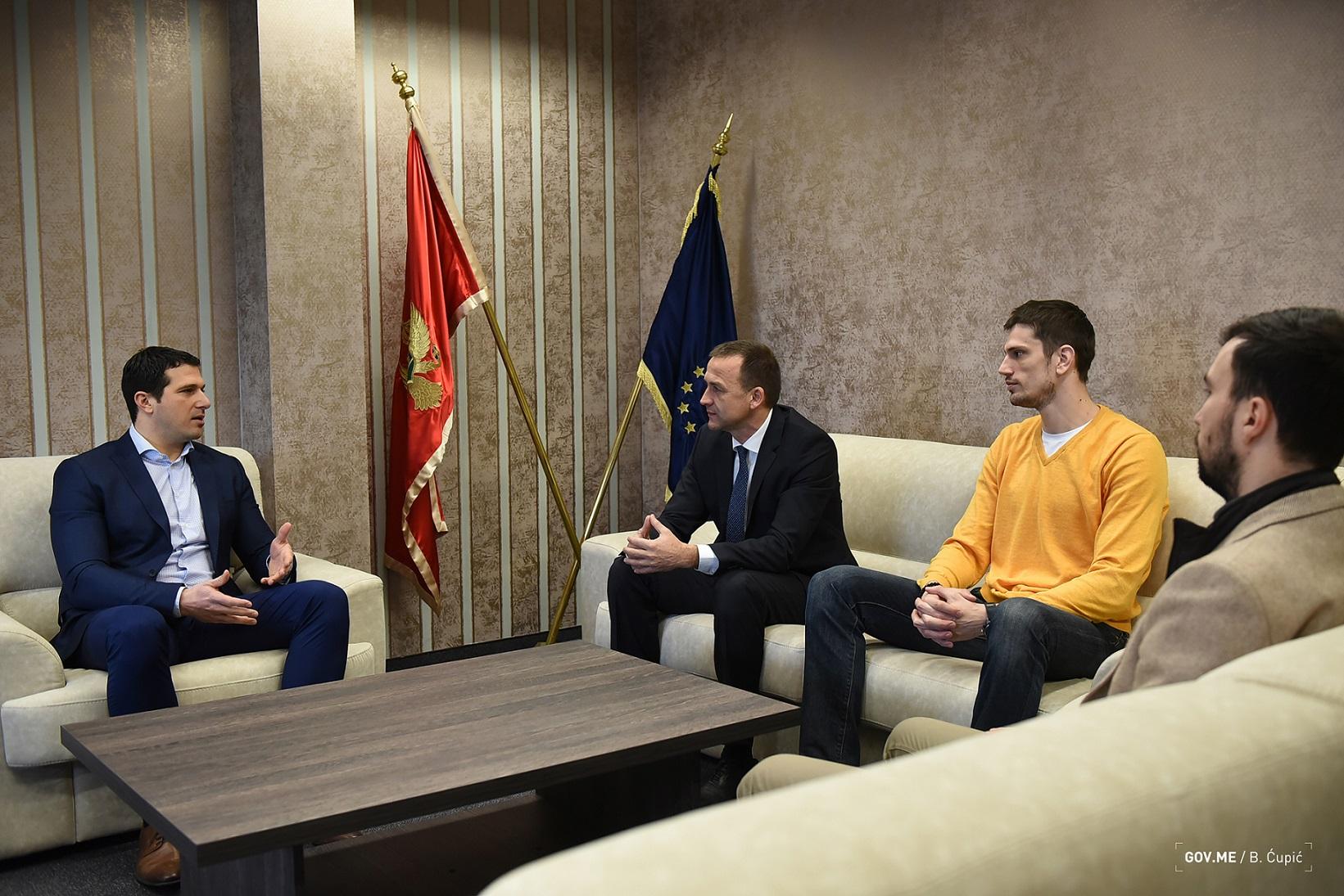 2019 01 18 Ministarstvo sporta prijem odbojkaske reprezenacije 006 cvetko pajkovic nikola janovic milos culafic