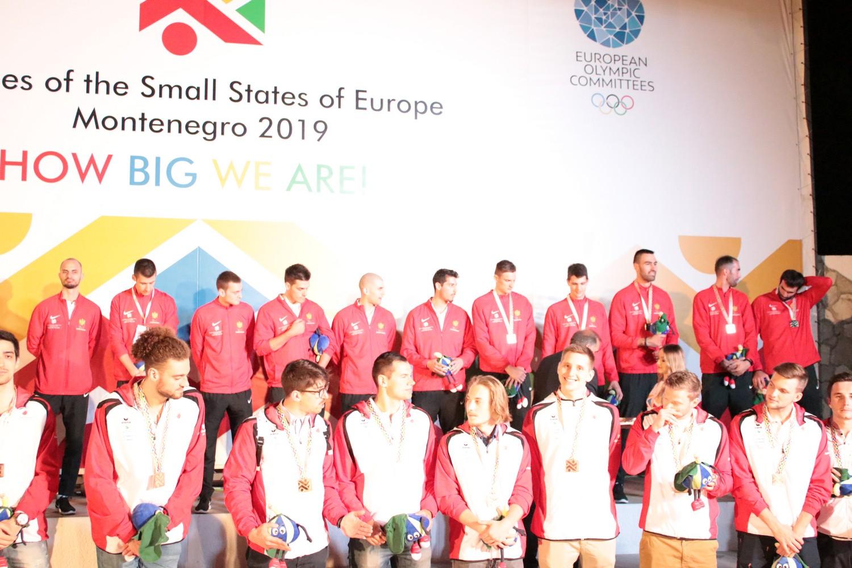 dodjela medalja igre malih zemalja evrope 2019 Budva Crna Gora 04 odbojkasi