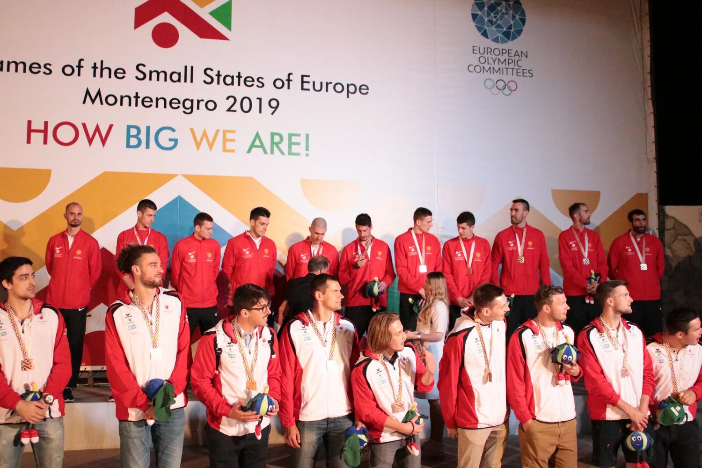 dodjela medalja igre malih zemalja evrope 2019 Budva Crna Gora 07 odbojkasi