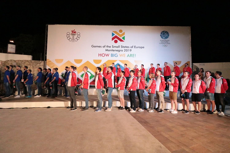 dodjela medalja igre malih zemalja evrope 2019 Budva Crna Gora 08 odbojkasi